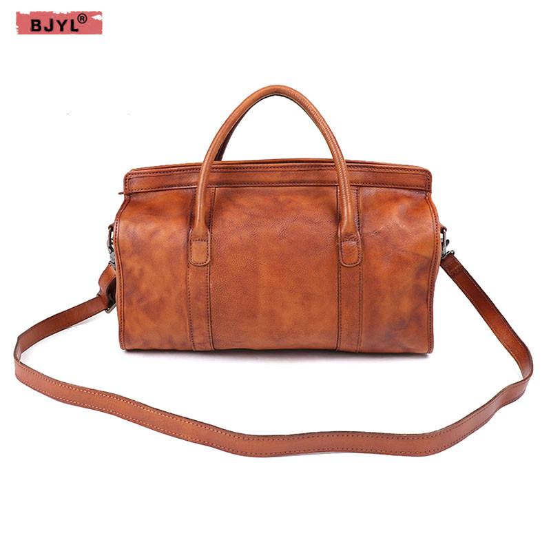 BJYL Women Handbags Pure hand rubbing the first layer of cowhide female wrapped tanned leather Retro shoulder bag Messenger bagBJYL Women Handbags Pure hand rubbing the first layer of cowhide female wrapped tanned leather Retro shoulder bag Messenger bag
