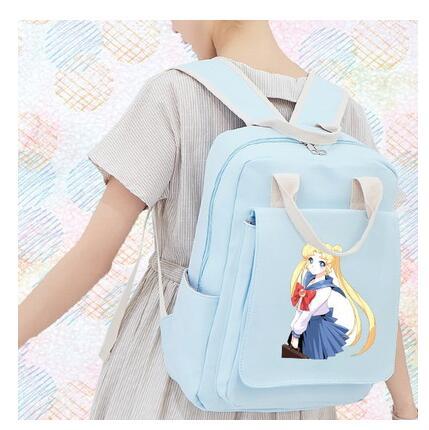 High Quality Card Captor Sakura Printing Backpack Canvas School Bags Lolita Women Backpack Mochila Feminina