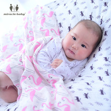 Baby 100% Cotton Muslin Swaddle Blanket Bedding Multifunctional Large Premium Swaddling Cloth Nursing Cover for Newborns Unisex