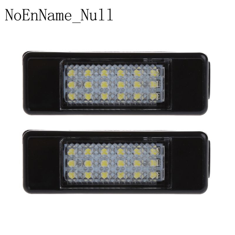 2pcs 18 LED License Plate Light Lamp For Peugeot 207 307 308 Citroen Berlingo 2004-2009 C3 C4 C5 C6 5D