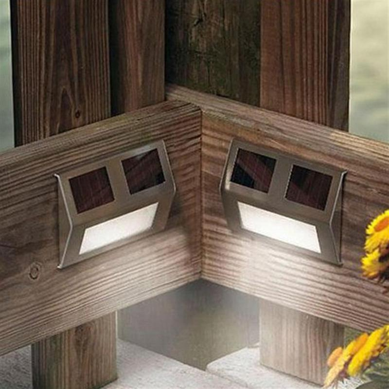 Новинка открытый Солнечный светодиодный лестницы шаг света светодиодный Пейзаж сада свет настенный светильник