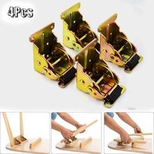 4 szt. Czarny zamek stół rozkładany łóżko nogi stopy składany składany wspornik pomocniczy