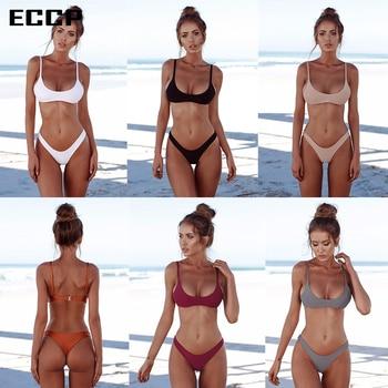 ECCP 2018 New Sexy Bikinis Women Swimsuit Summer Beach Wear Push Up Swimwear Female Bikini Set Halter Top Bathing Suits Swim XXL