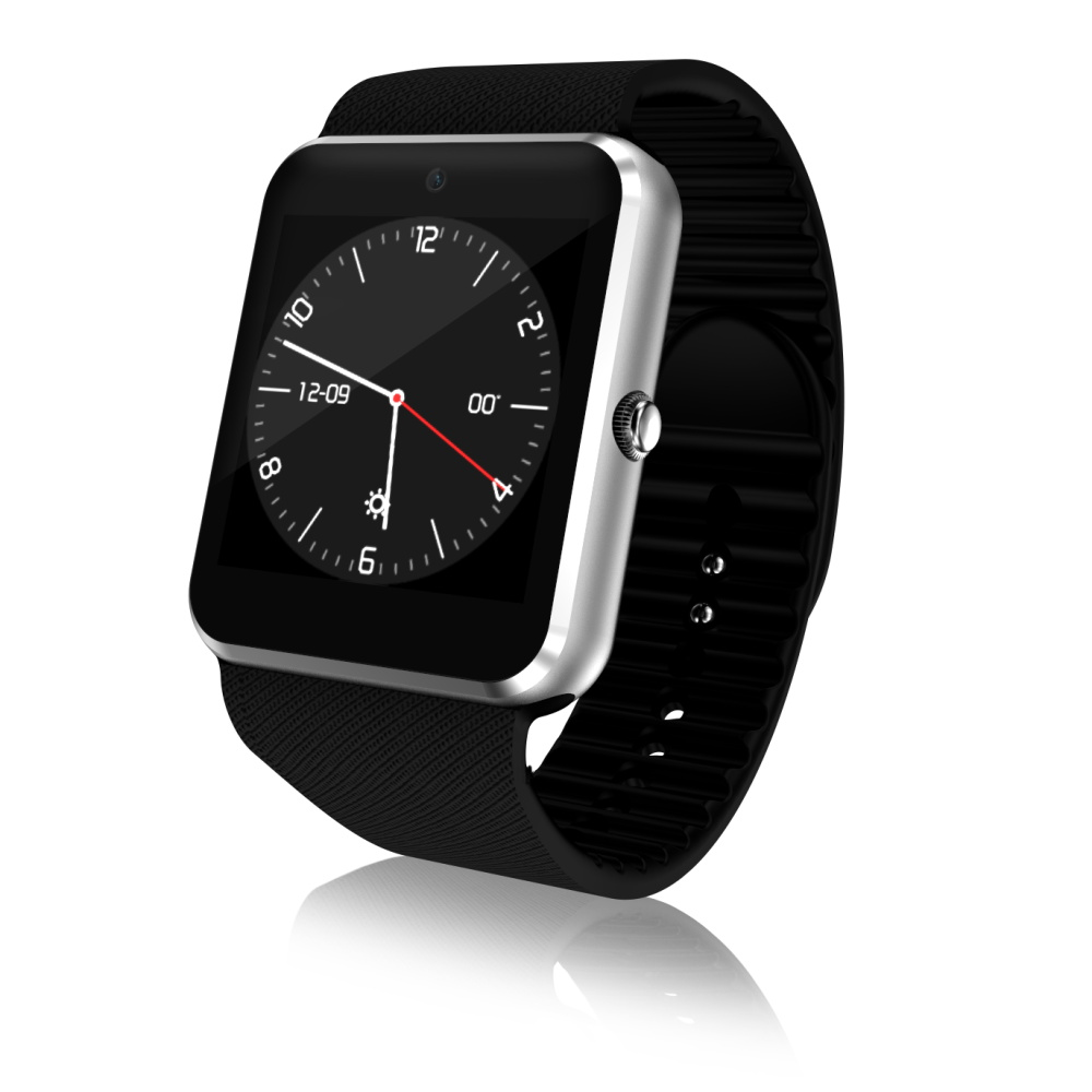 3G QW08 Smart Horloge 1.54 inch Scherm Android 4.4 MTK6572 1.2 GHz Dual Core 512 MB RAM 4 GB ROM Bluetooth 4.0 Android SmartWatch