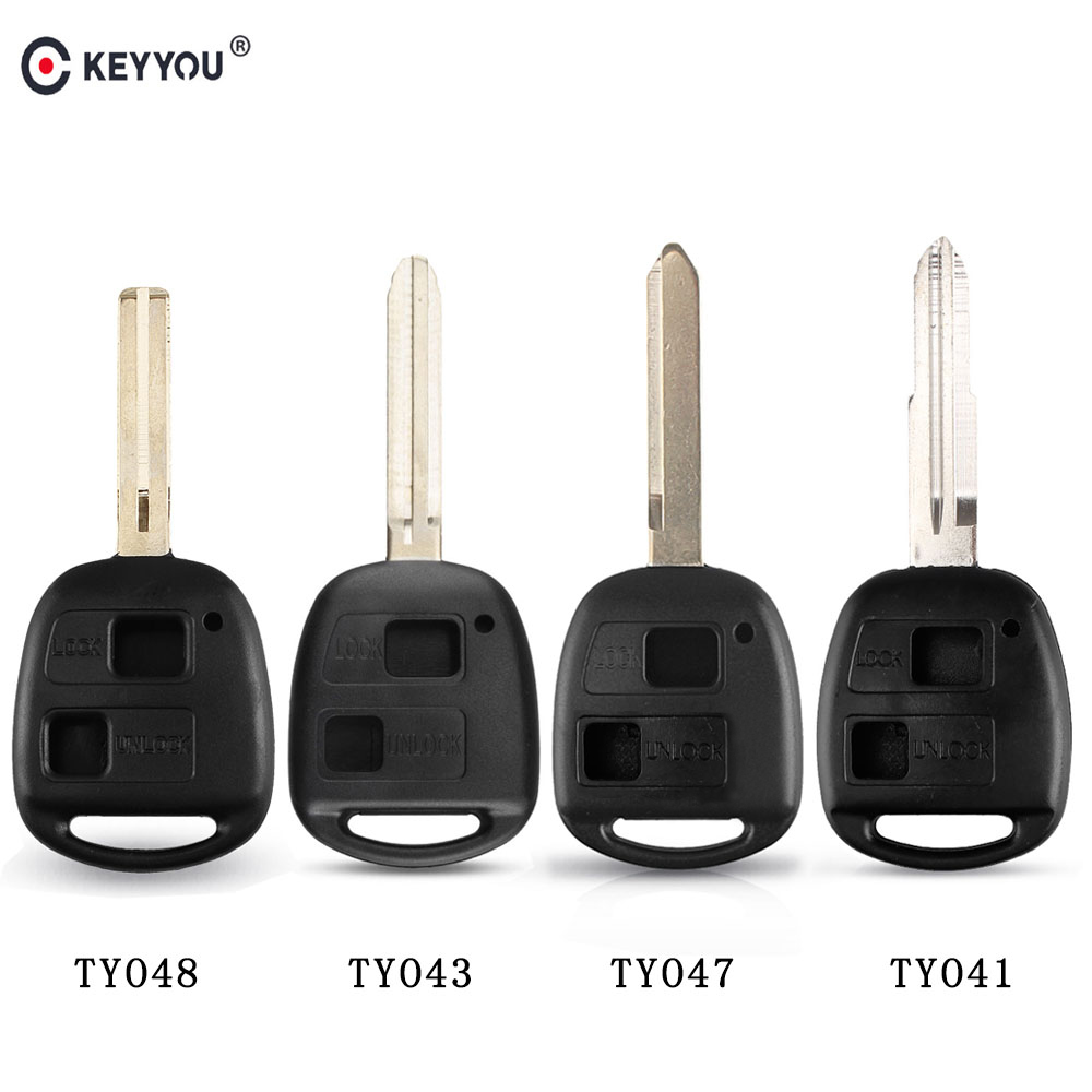 KEYYOU 2BT TOY41/TOY43/TOY47/TOY48 Remote Car Key Fob Case Shell For Toyota Camry Rav4 Corolla Prado Yaris Tarago(China)
