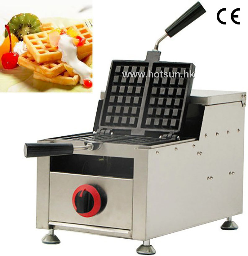Commercial Non-stick LPG Gas Rotated 2-slice Belgian Brussels Waffle Iron Maker Machine Baker commercial non stick lpg gas rotated 4 slice heart shaped waffle iron maker baker machine
