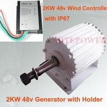 2b3b659df3e 2KW 48 V generador de viento turbinas de viento Vertical aplicación con 48  V AC viento controlador trifásico AC permanente imán