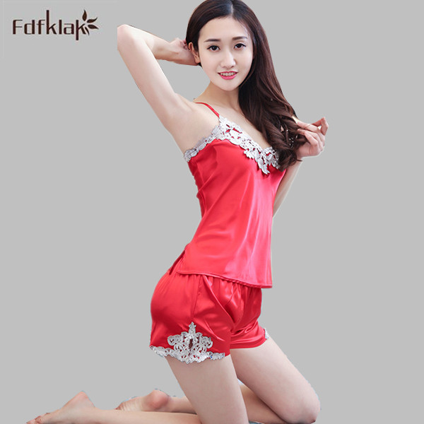 Womens Pyjamas Lace Women Pajamas Set Clothing for Women Homewear Indoor Clothing Lady Pajamas For Women's Sleepwear M-XXL E1285