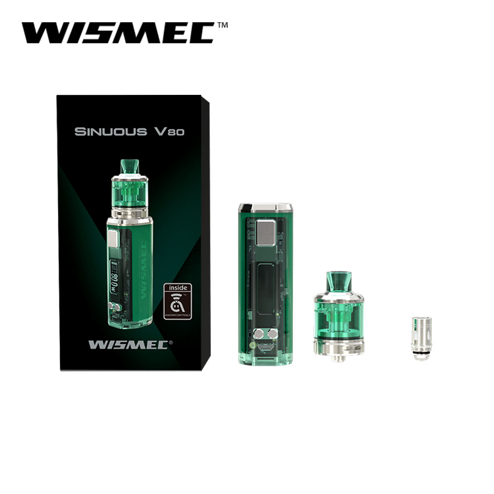 Original WISMEC SINUOUS V80 Kit with Amor NSE Tank 80w 3ml WS04 MTL 1.3ohm /WS M 0.27ohm Coil head E Cigarette vape kit-in Electronic Cigarette Kits from Consumer Electronics    3