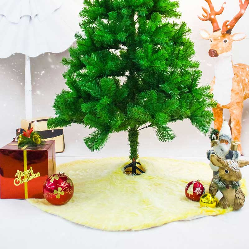 1 piece 120cm Red Yellow White Plush Christmas Tree Skirts ...
