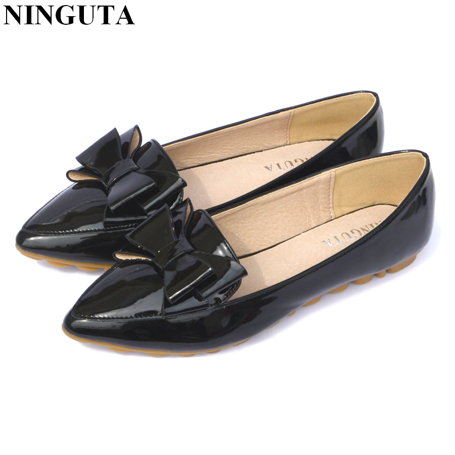 07dd81514d8e Fashion bow pointed toe women flats woman flat shoes ballet flats for ladies