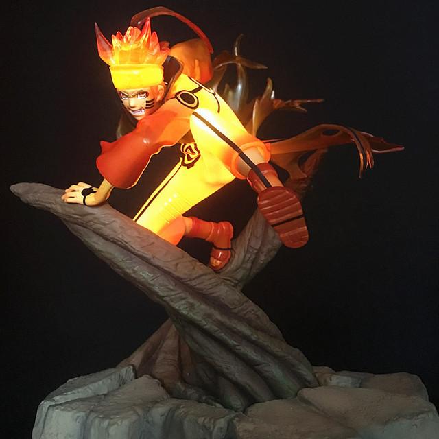 Naruto Shippuden Uzumaki Naruto Figura de Acción LED Edición de Lujo