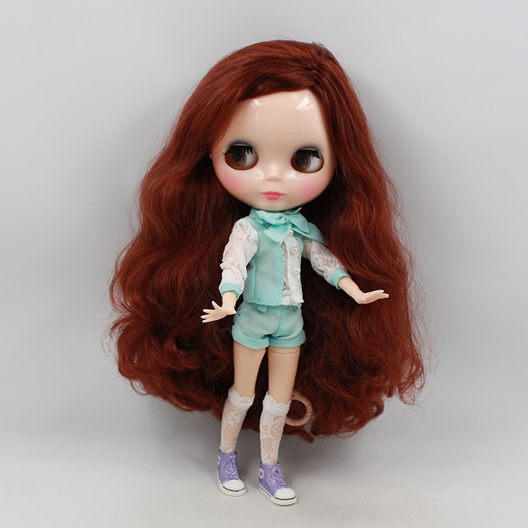 free shipping factory blyth doll joint body pink red hair
