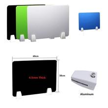 الملونة مكتب عمل الجدول الاكريليك شاشة مقسمة مع المشابك الألومنيوم