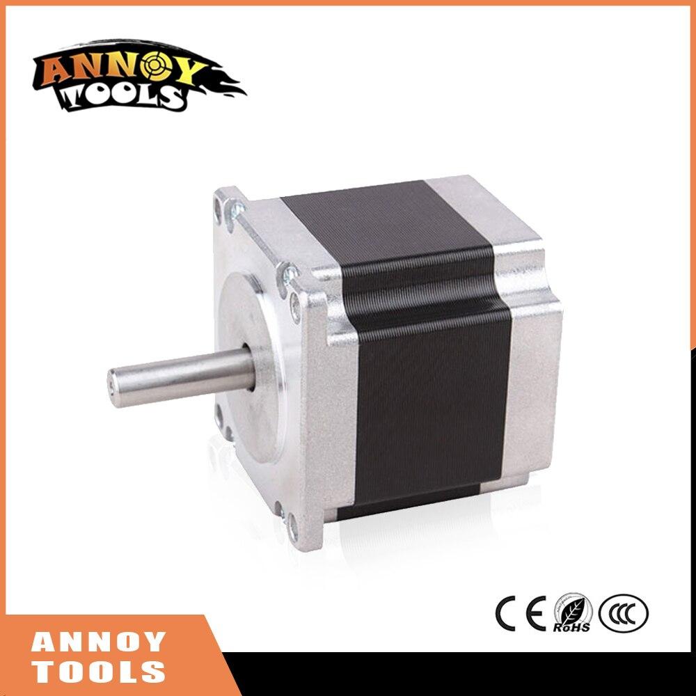 ФОТО ANNOYTOOLS nema 23 57HM 2 phase 0.9degrees hybrid stepper motor 7.8V 1A 12Kg.cm 64mm 57HM64-1004 DIY CNC Machine 3D printer