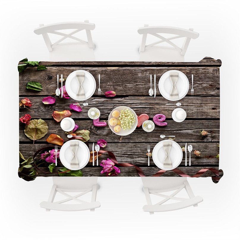 Wedding Valentine`s Day romantic 3D tablecloth table cloth Dinner for Family Party Home Decortion 2019 NEW table cloth #5J07 (2)