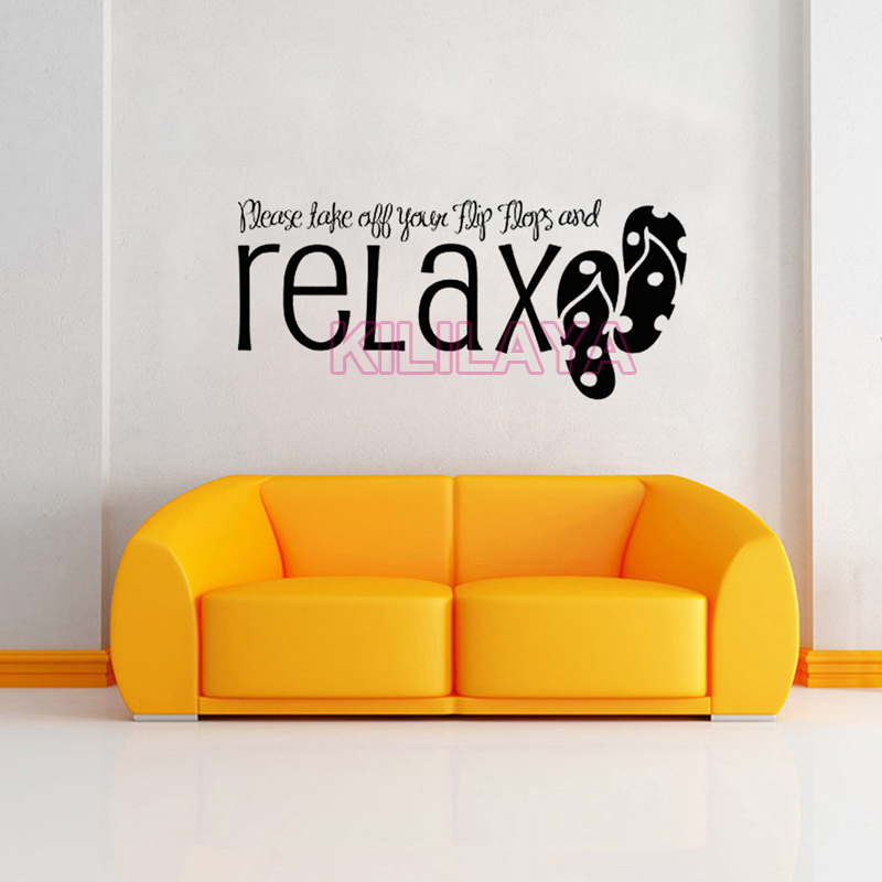 Stickers Take Off Your Flip Flops And Relax Vinyl Wall Sticker ...