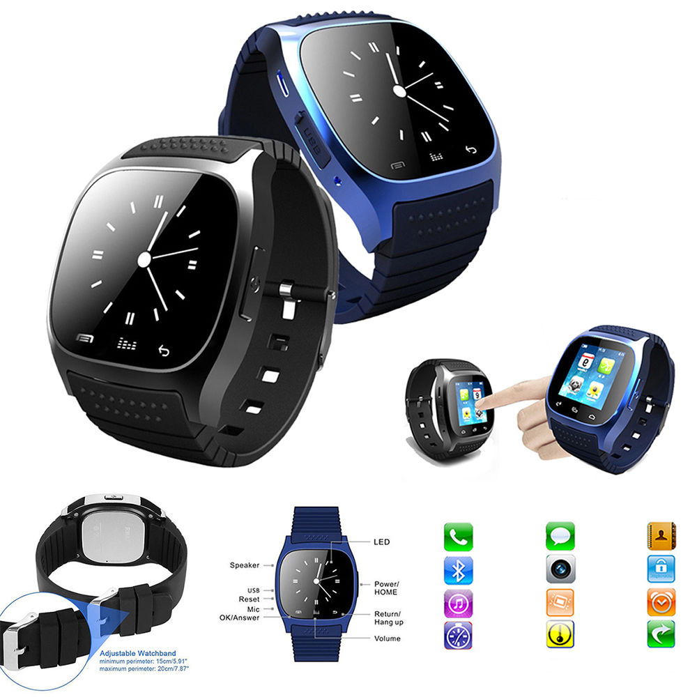 M26 Smart Watch Sport Sync Phone Calls Anti-lost iPhone Android Smartphone Watch