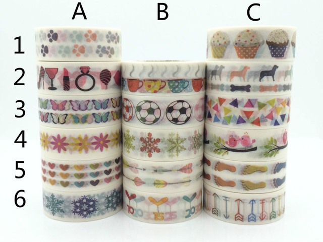 Football soccer cupcake foot print washi paper masking tapes scrapbooking sticker decorative tape diy stickers crafts