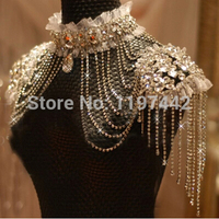Bridal Chain Tassel Shoulder Strap Bride Beads Lace Jewelry Crystal Accessories Jewellery Wedding Necklace Jewerly Sets