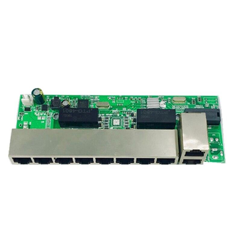 ANDDEAR-48 V 8 Port Gigabit Unmanaged Poe Switch 8*100 Mbps POE Poort; 2*100 Mbps UP Link Poort;  Poe Powered Switch NVR