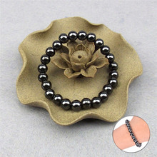 Round Black Stone Bracelet Health Care Magnetic Therapy Bracelet font b Weight b font font b