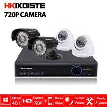 Security Camera System 4ch CCTV Camera System DVR Security System 4CH 1080N DVR 4 x 720P Security Camera 1.0mp Camera DIY Kits