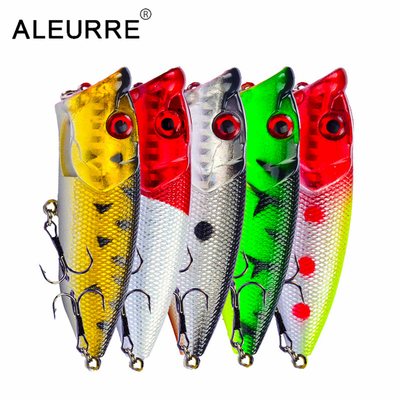 Image 2 - 7cm/11g Topwater Bait Popper Lures vibrating Small Whopper Hard Isca Artificial Weever Wobbler 3D Eyes Fishing Lure Pesca-in Fishing Lures from Sports & Entertainment