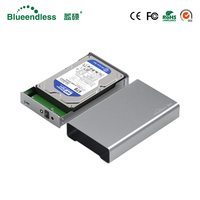 All metal hdd case sata ssd hdd type c 3.0 external hard drive case hdd enclosure sata to usb 3.0 hdd caddy for hard disk 1TB