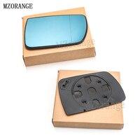 MZORANGE двери крыла Зеркало Стекло с подогревом синий левый правой стороны для BMW X5 E53 99-06 3.0i 4.4i автомобиль-Стайлинг заднего вида Отопление зерк...