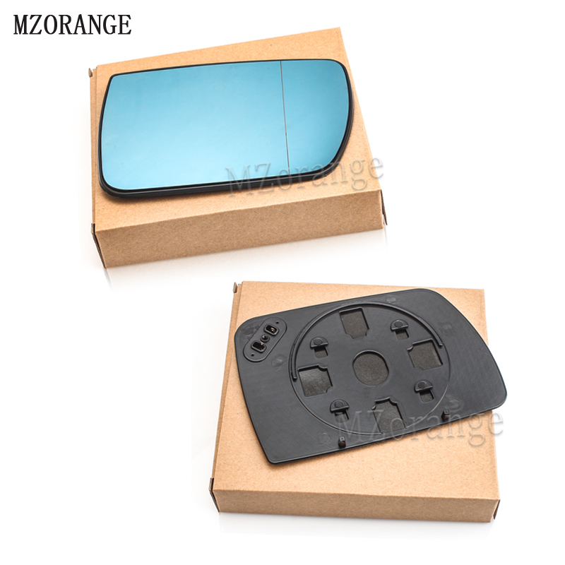 MZORANGE Door Wing Mirror Glass Heated Blue Left Right Side For BMW <font><b>X5</b></font> <font><b>E53</b></font> 99-06 3.0i 4.4i Car-styling Rearview Heating Mirror image