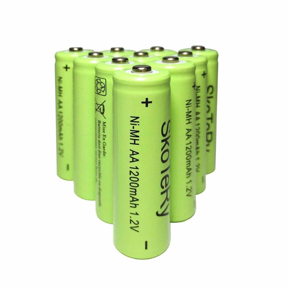 12PCS MUITO 1200mAh Nova Original AA Ni-MH Bateria Recarregável 1.2V Frete grátis