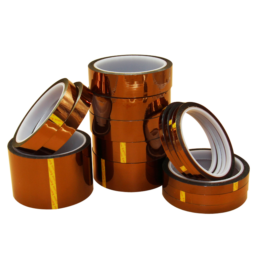 1PC 5MM 10MM 15MM 20MM 25MM Width 33M Length Heat Resistant Polyimide Tape High Temperature Adhesive Insulation Kapton Tape 55mm x 33m 100ft kapton tape high temperature heat resistant polyimide fast ship