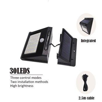 цена на 30led Separable LED Solar Light Solar Panel Power PIR Motion Sensor LED Garden Light Outdoor Pathway Sense Solar Lamp Wall Light