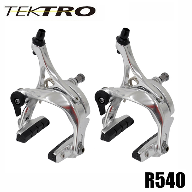 Tektro R540 Front /& Rear Road Bike Dual Pivot SILVER Set 39-51mm Caliper