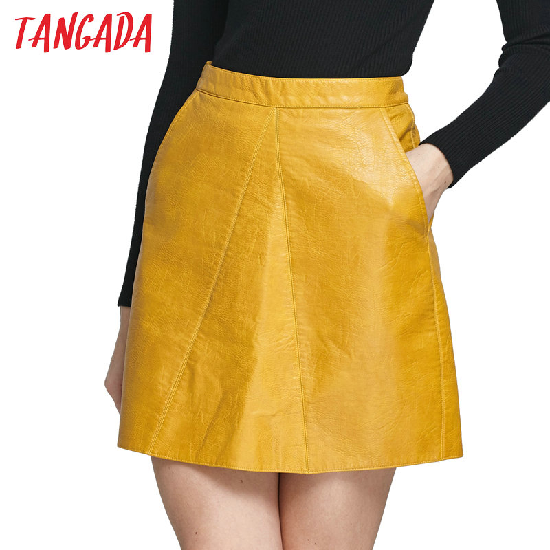 Aliexpress.com : Buy Tangada Fashion 2017 Spring Women Yellow Faux ...