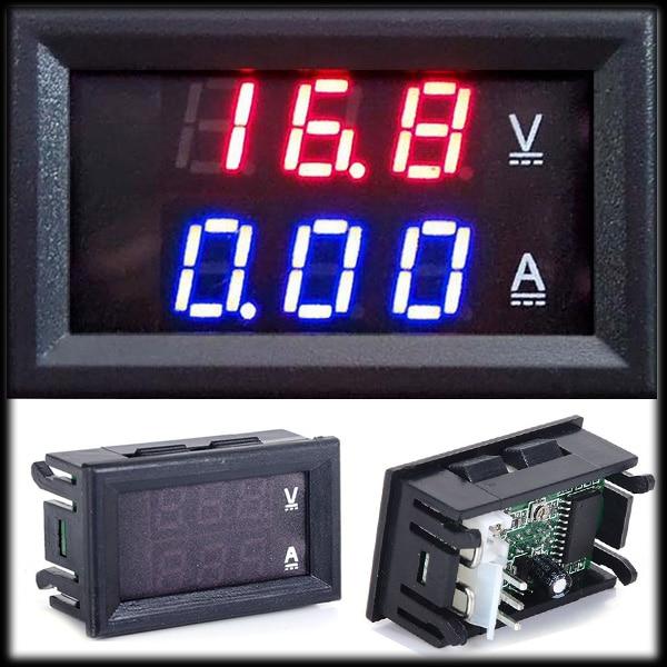 by DHL or EMS 100 pieces Car voltage current meter Digital Ammeter Voltmeter DC 0 100V
