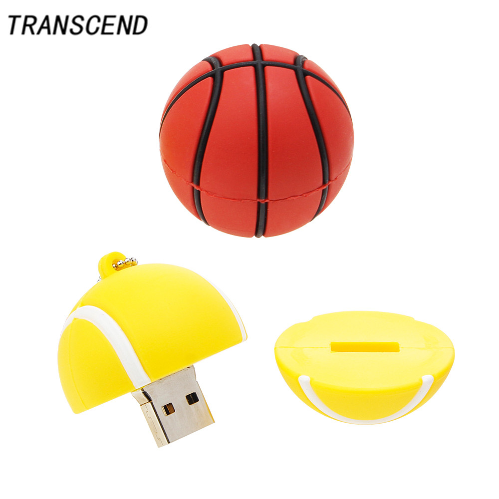 Transcend usb3.0 cartoon football / sweatshirt / basketball flash drive 4GB 8GB 16GB 32GB 64GB portable USB2.0 disk memory stick ...