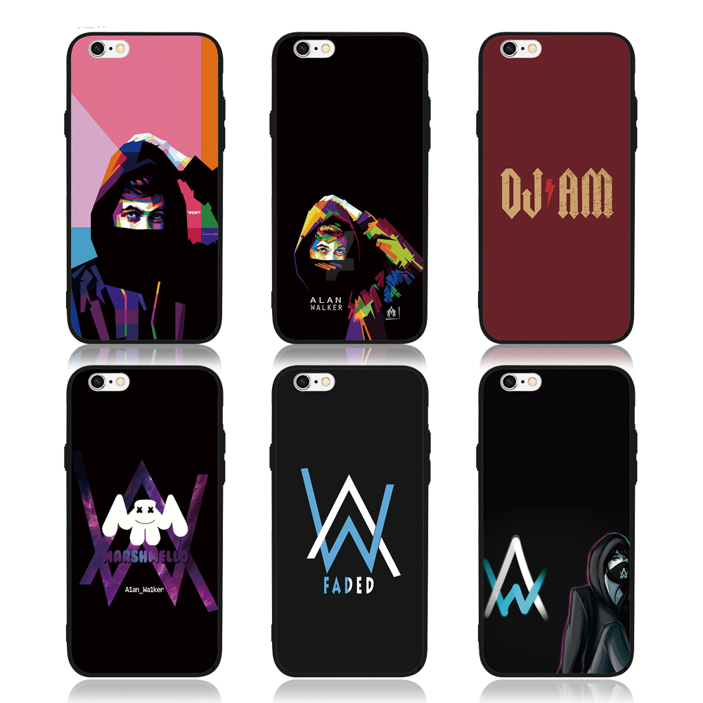 FATPERSON Best case For iPhone X 10 5 5S SE 6 6S 7 8 Plus Alan Walker DJ Faded Cover For Samsung Galaxy S8 S9 S7edge Phone shell