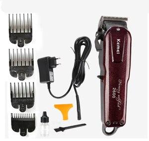 Image 5 - Kemei מקצועי חשמלי שיער גוזם חזק אלחוטי מתכוונן קליפר מכונת גילוח גילוח שיער מכונת חיתוך עם מסרק גבול