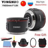 White YN50mm F1.8 II Large Aperture Auto Focus Lens YONGNUO for Canon Bokeh Effect Camera Lens for Canon EOS 70D 5D2 5D3 DSLR