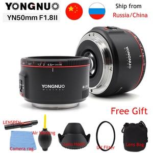 Image 1 - الأصلي YN50mm F1.8 II فتحة كبيرة عدسات تركيز السيارات YONGNUO لكانون بوكيه تأثير كاميرا عدسات لكاميرات كانون EOS 70D 5D2 5D3 DSLR