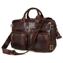 Genuine Leather Men Bag Men's Briefcase 15inch Leather Laptop Bag Male men travel Handbag Tote Shoulder crossbody Bags GW05