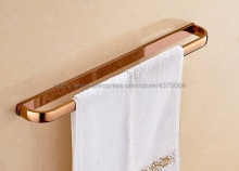 Rose Gold Color Brass Bathroom Accessories Wall Mounted Single Towel Bar Shower Towel Rack Rails Nba867 стоимость