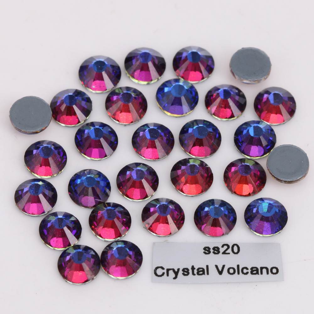 2028 SS3 SS30 AAAAA Rainbow Hot Fix Rhinestone Flatback Glass ... b9b62328ccb4