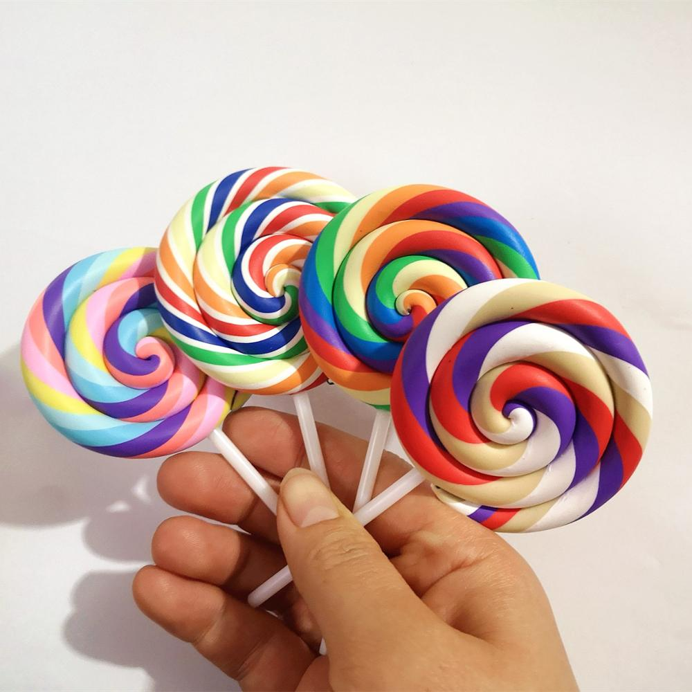 1/5PCS Slime Charms Colorful Big Lollipop Soft Clay Plasticine Slime Accessories Making Supplies For Kids Toys