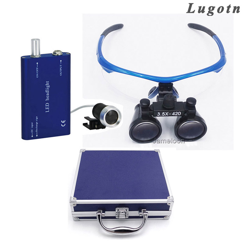 Metal box 3.5X magnification drop shipping magnifying medical dental loupe with led headlight surgical operate magnifierMetal box 3.5X magnification drop shipping magnifying medical dental loupe with led headlight surgical operate magnifier
