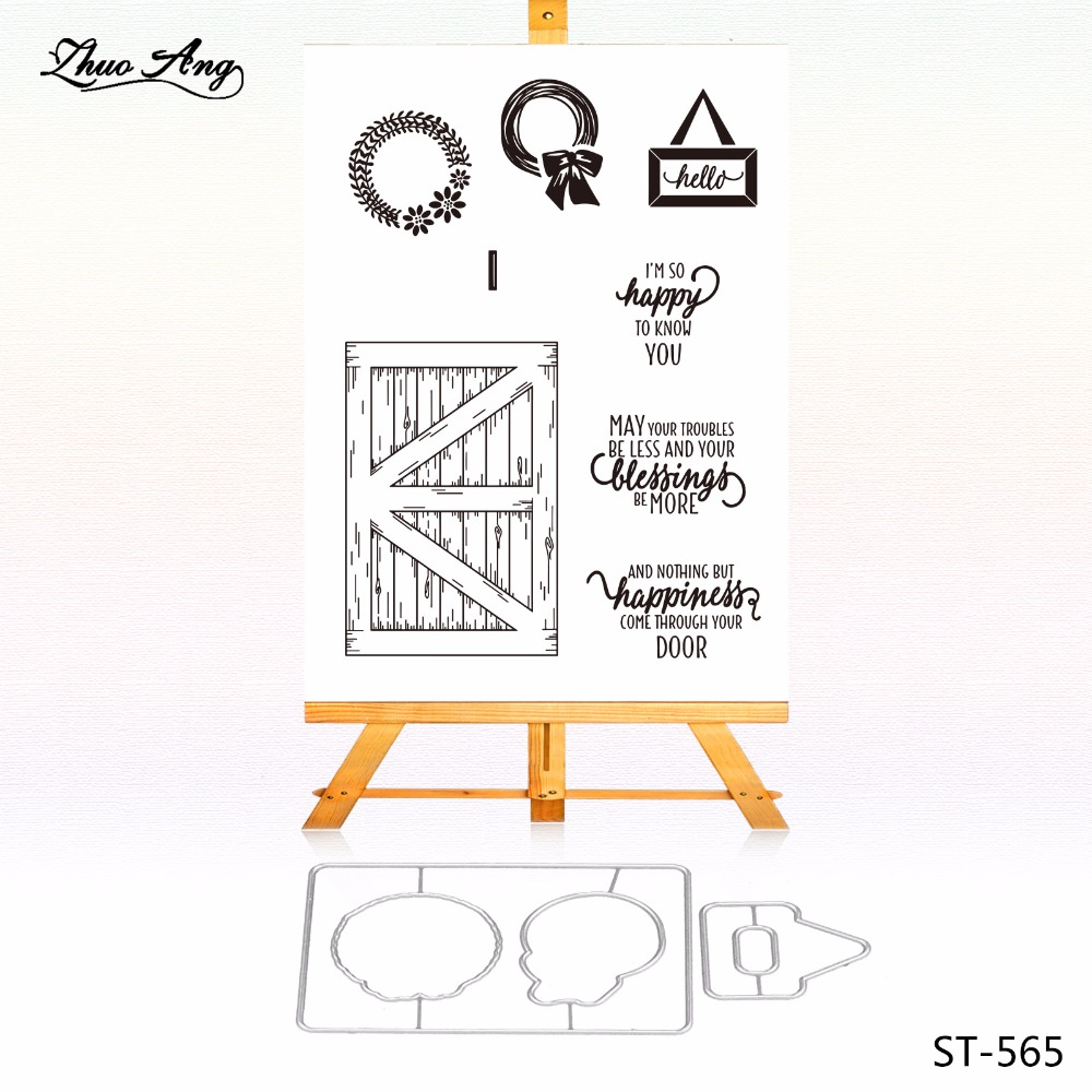The Pursuit of Happines Metal Cutting Dies Clear Stamp Set for DIY Scrapbooking/photo Album Decorative Craft Clear Stamp Chapter pig silicone clear stamp metal cutting dies stencil frame scrapbook album decor clear stamps scrapbooking accessories