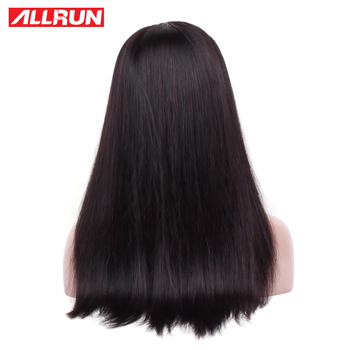 Allrun Lace Front Human Hair Wigs One Pack 360 Lace Frontal Brazilian Straight Hair Lace Forntal Wigs With Baby Hair Non Remy 2
