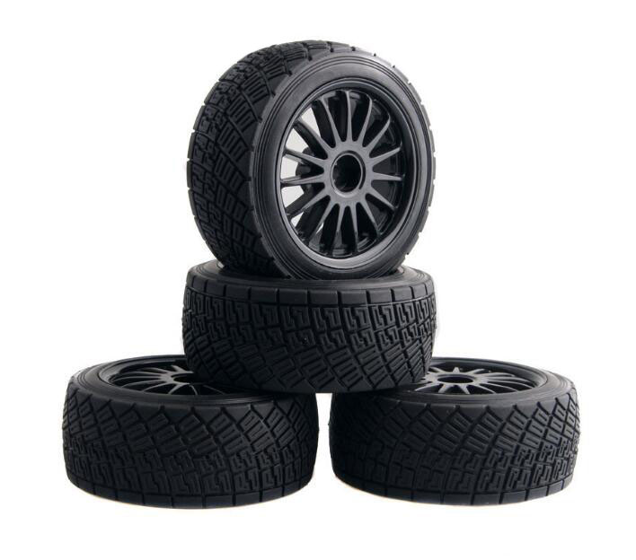 4pcs tires wheels tyre with foam tire tread for HPI WR8 on-road HSP 1/10 94177 RC Buggy off-road car short course truck азбука невыносимая легкость бытия